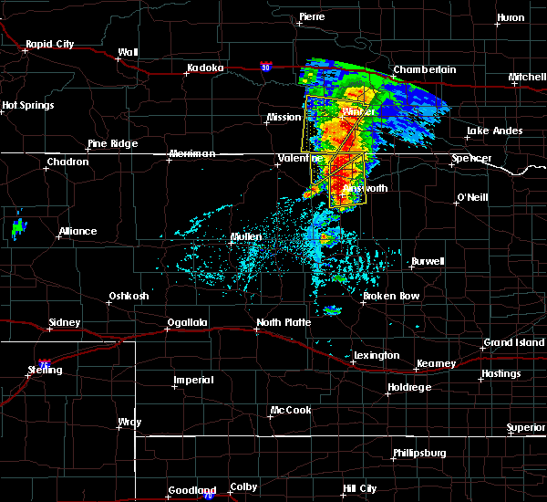 Radar Image for Severe Thunderstorms near Ainsworth, NE at 6/1/2018 5:39 PM CDT
