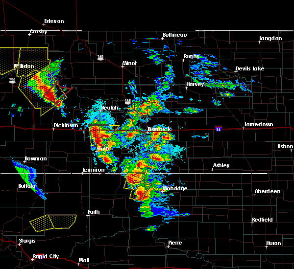 Radar Image for Severe Thunderstorms near Timber Lake, SD at 6/1/2018 4:39 PM MDT