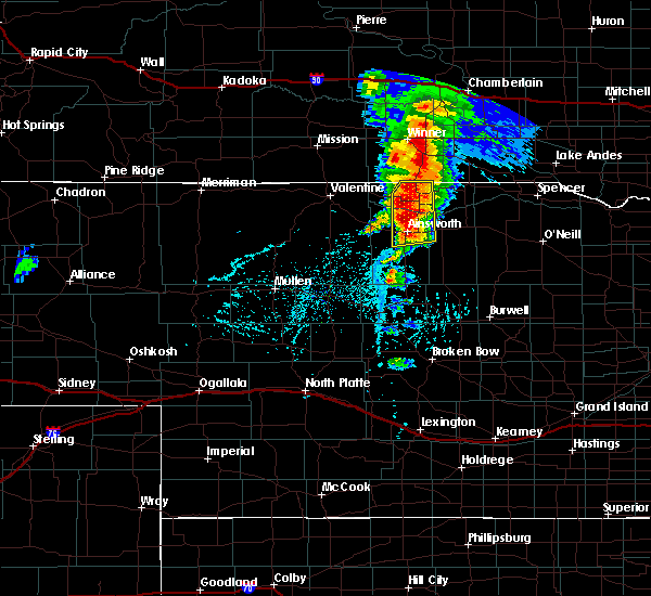 Radar Image for Severe Thunderstorms near Ainsworth, NE at 6/1/2018 5:51 PM CDT