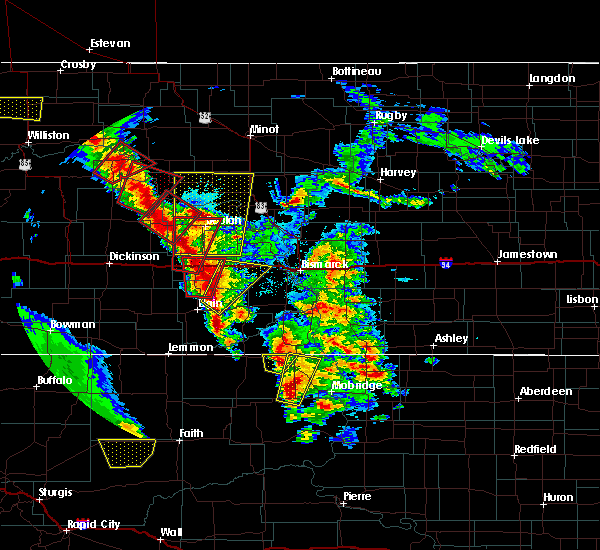 Radar Image for Severe Thunderstorms near New Salem, ND at 6/1/2018 6:10 PM CDT