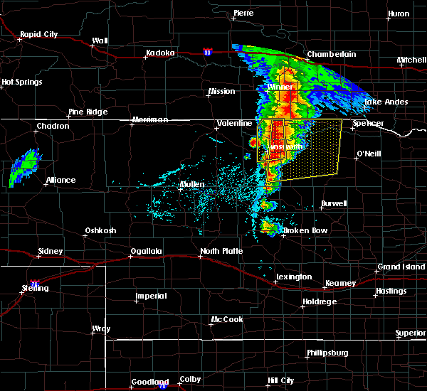 Radar Image for Severe Thunderstorms near Atkinson, NE at 6/1/2018 6:10 PM CDT
