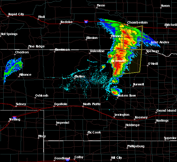 Radar Image for Severe Thunderstorms near Atkinson, NE at 6/1/2018 6:29 PM CDT