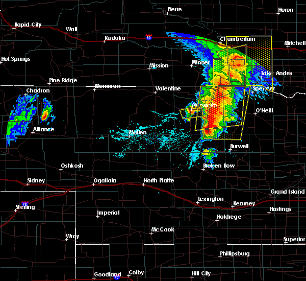Radar Image for Severe Thunderstorms near Atkinson, NE at 6/1/2018 6:57 PM CDT