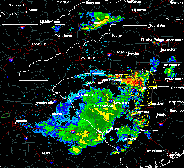 Radar Image for Severe Thunderstorms near Wingate, NC at 6/1/2018 8:22 PM EDT