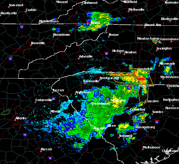 Radar Image for Severe Thunderstorms near Wingate, NC at 6/1/2018 8:38 PM EDT