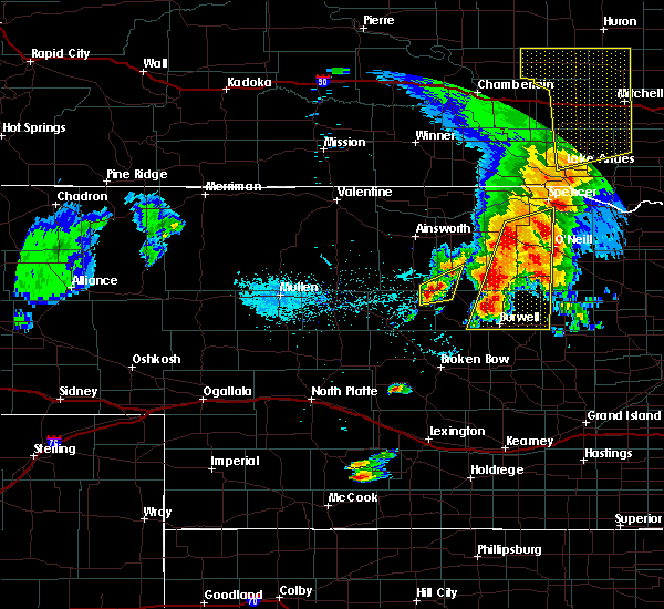 Radar Image for Severe Thunderstorms near Atkinson, NE at 6/1/2018 7:47 PM CDT