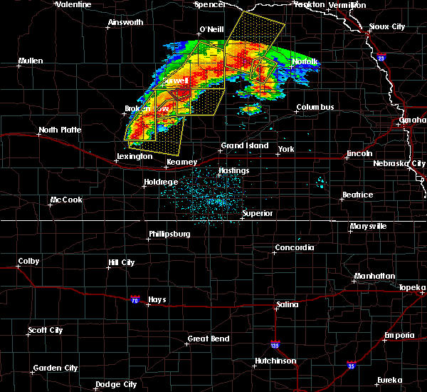 Radar Image for Severe Thunderstorms near Hazard, NE at 6/1/2018 9:27 PM CDT
