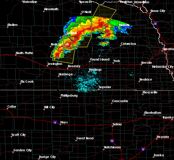 Radar Image for Severe Thunderstorms near Scotia, NE at 6/1/2018 9:30 PM CDT