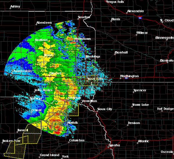 Radar Image for Severe Thunderstorms near Wynot, NE at 6/1/2018 9:42 PM CDT