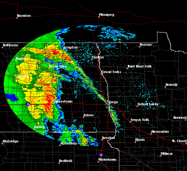Radar Image for Severe Thunderstorms near New Rockford, ND at 6/1/2018 9:46 PM CDT