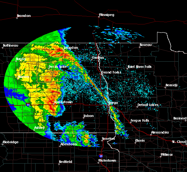 Radar Image for Severe Thunderstorms near New Rockford, ND at 6/1/2018 10:03 PM CDT