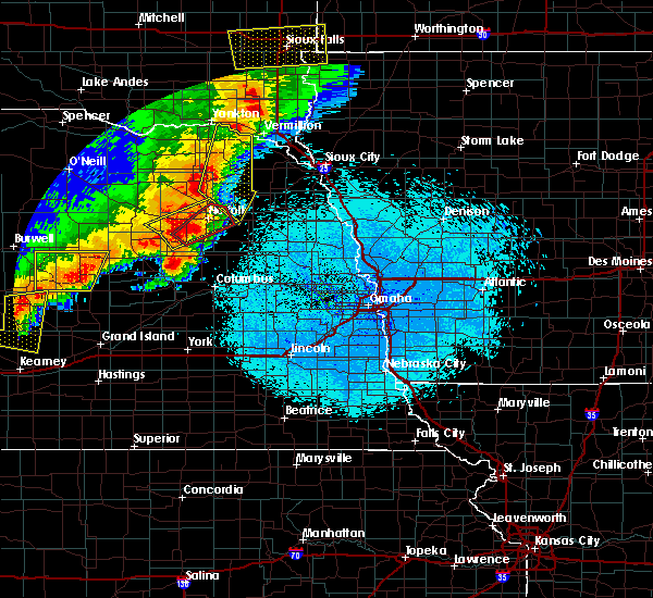 Radar Image for Severe Thunderstorms near Battle Creek, NE at 6/1/2018 10:04 PM CDT