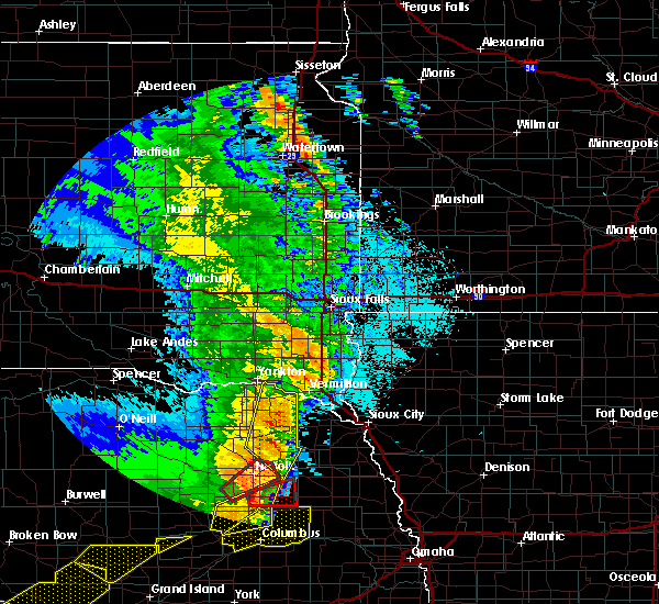 Radar Image for Severe Thunderstorms near Winside, NE at 6/1/2018 10:22 PM CDT