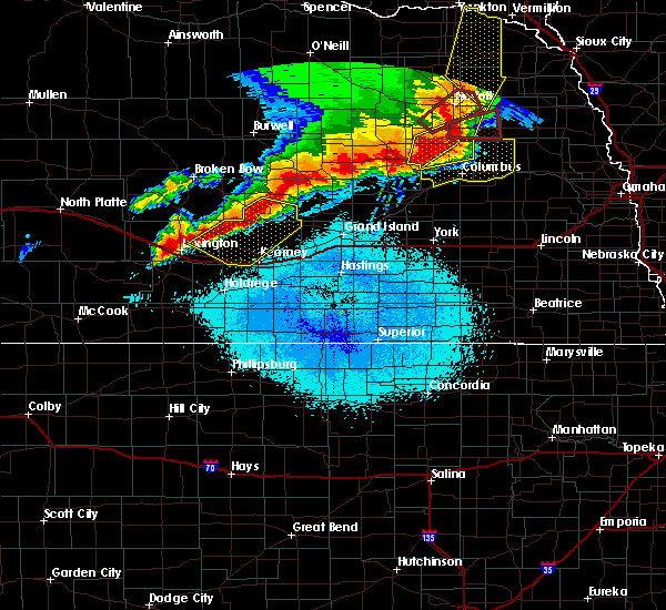 Radar Image for Severe Thunderstorms near Ashton, NE at 6/1/2018 10:22 PM CDT