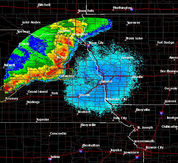 Radar Image for Severe Thunderstorms near Winside, NE at 6/1/2018 10:35 PM CDT