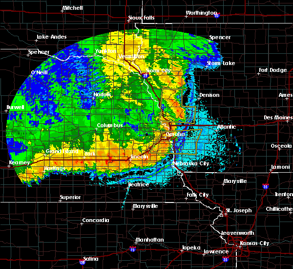 Radar Image for Severe Thunderstorms near Moorhead, IA at 6/2/2018 12:46 AM CDT