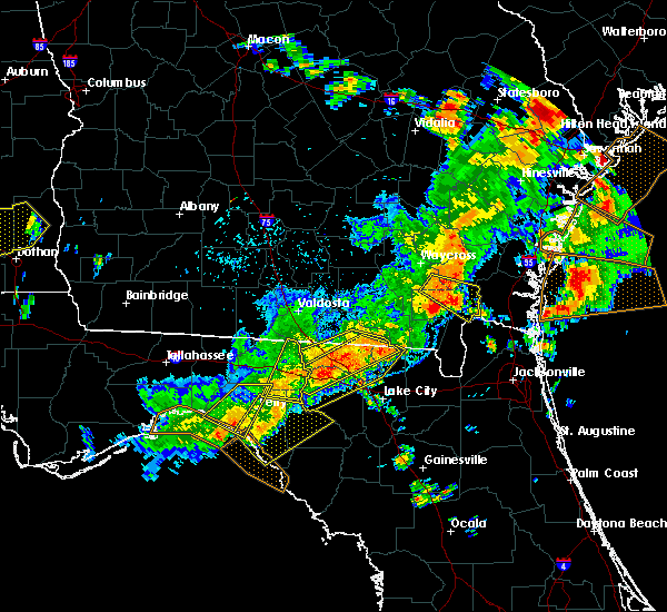 Radar Image for Severe Thunderstorms near Jasper, FL at 6/2/2018 4:46 PM EDT
