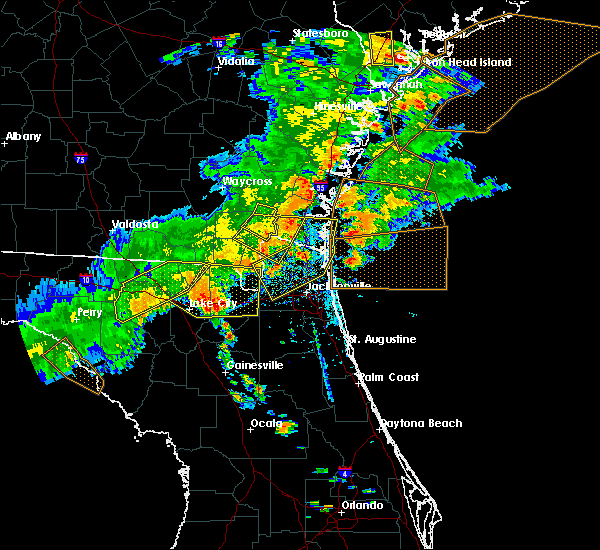 Radar Image for Severe Thunderstorms near Macclenny, FL at 6/2/2018 5:29 PM EDT