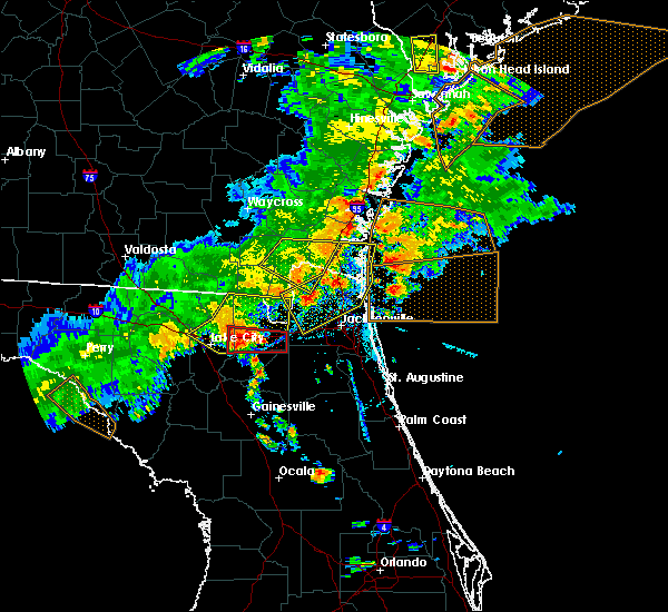 Radar Image for Severe Thunderstorms near Macclenny, FL at 6/2/2018 5:35 PM EDT