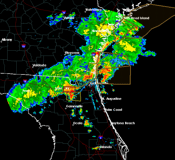 Radar Image for Severe Thunderstorms near Callahan, FL at 6/2/2018 5:53 PM EDT