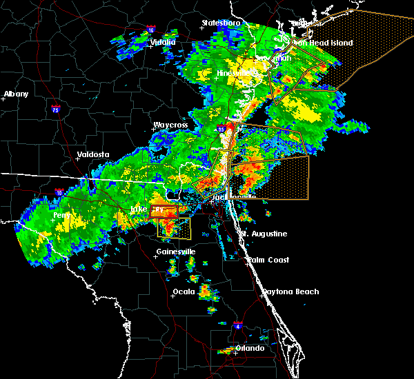 Radar Image for Severe Thunderstorms near Macclenny, FL at 6/2/2018 5:56 PM EDT
