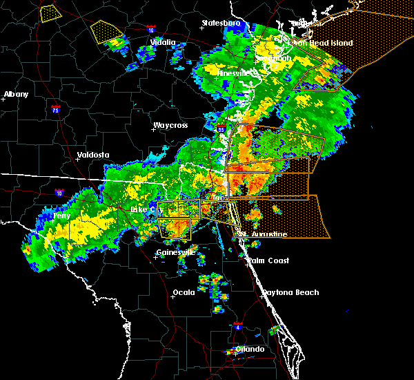 Radar Image for Severe Thunderstorms near Fleming Island, FL at 6/2/2018 6:15 PM EDT