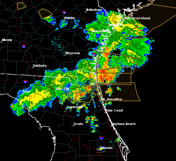 Radar Image for Severe Thunderstorms near Fleming Island, FL at 6/2/2018 6:22 PM EDT