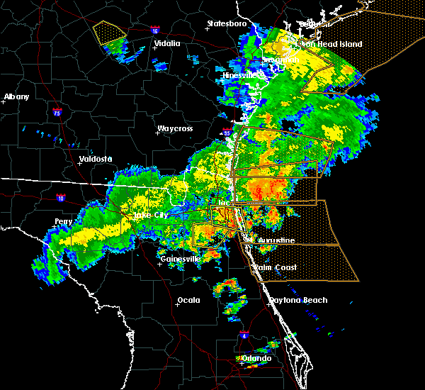 Radar Image for Severe Thunderstorms near Fleming Island, FL at 6/2/2018 6:37 PM EDT