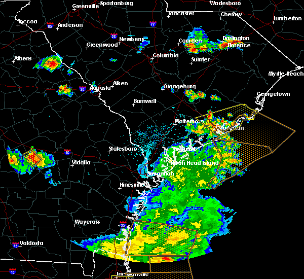 Radar Image for Severe Thunderstorms near North Charleston, SC at 6/2/2018 6:56 PM EDT