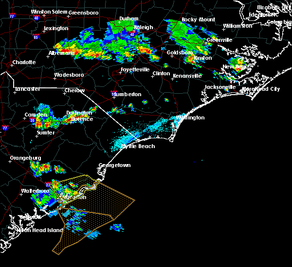 Radar Image for Severe Thunderstorms near Moncks Corner, SC at 6/2/2018 7:05 PM EDT
