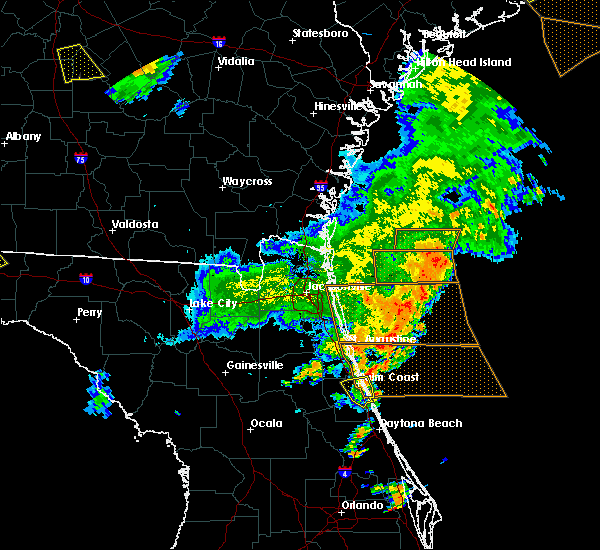 Radar Image for Severe Thunderstorms near Bunnell, FL at 6/2/2018 7:23 PM EDT