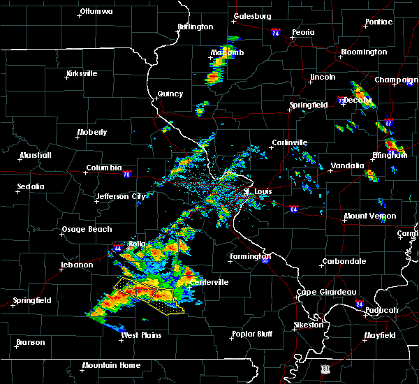 Radar Image for Severe Thunderstorms near Eminence, MO at 6/2/2018 6:48 PM CDT