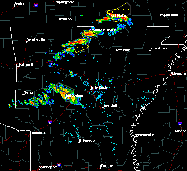 Radar Image for Severe Thunderstorms near Marshall, AR at 6/2/2018 8:03 PM CDT