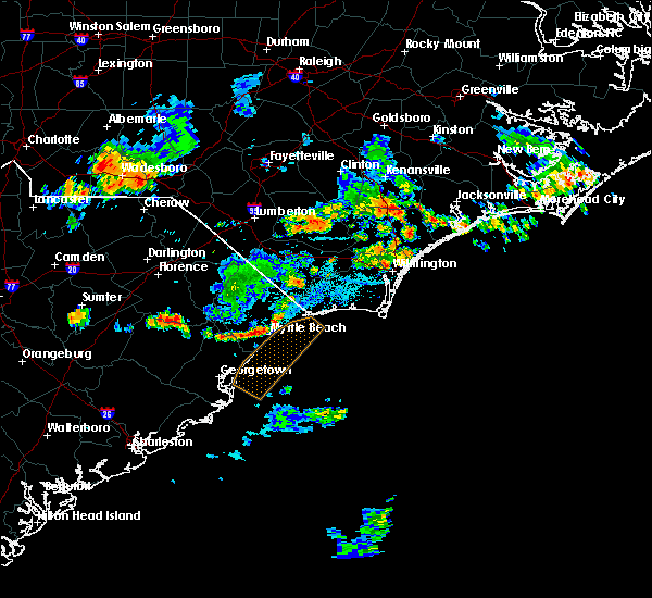 Radar Image for Severe Thunderstorms near Murrells Inlet, SC at 6/2/2018 9:23 PM EDT