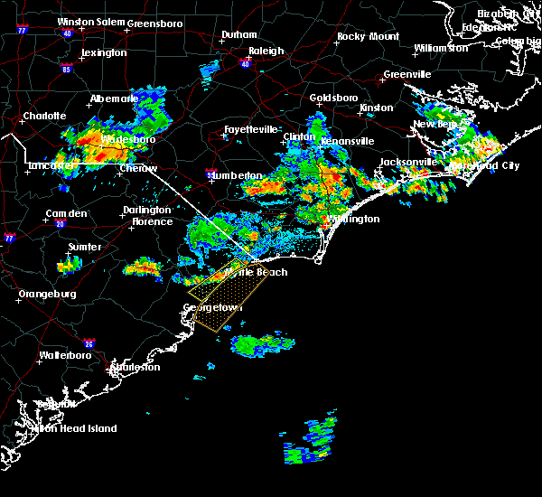 Radar Image for Severe Thunderstorms near Myrtle Beach, SC at 6/2/2018 9:35 PM EDT