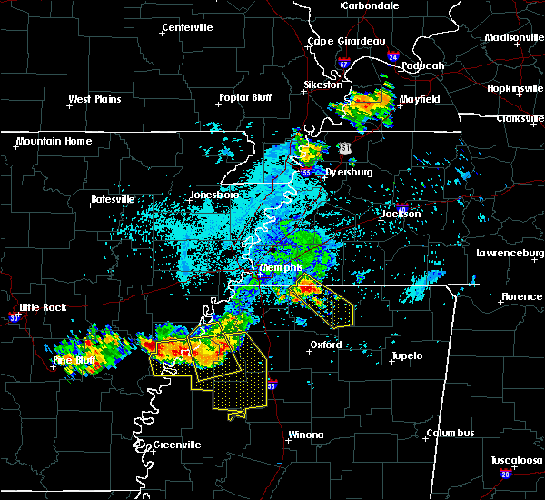 Radar Image for Severe Thunderstorms near Marks, MS at 6/3/2018 12:42 AM CDT