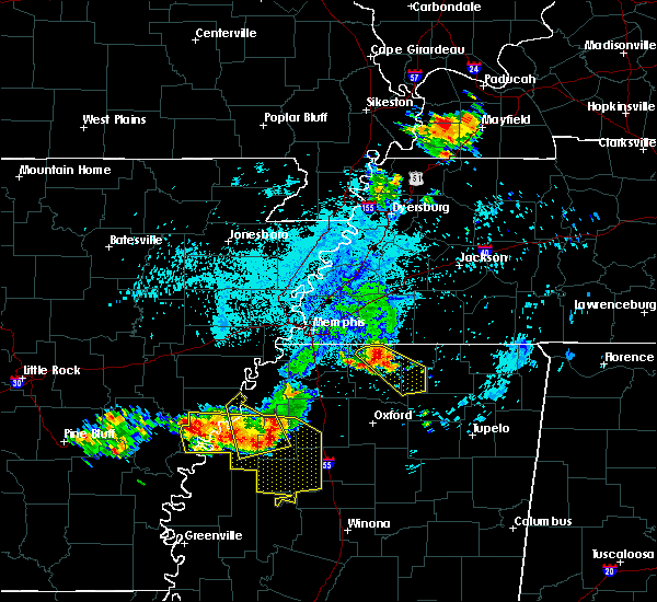 Radar Image for Severe Thunderstorms near Sumner, MS at 6/3/2018 12:54 AM CDT