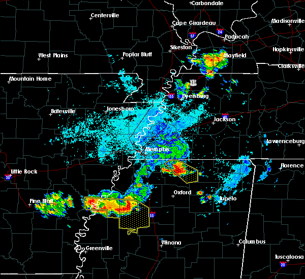 Radar Image for Severe Thunderstorms near Sumner, MS at 6/3/2018 1:06 AM CDT