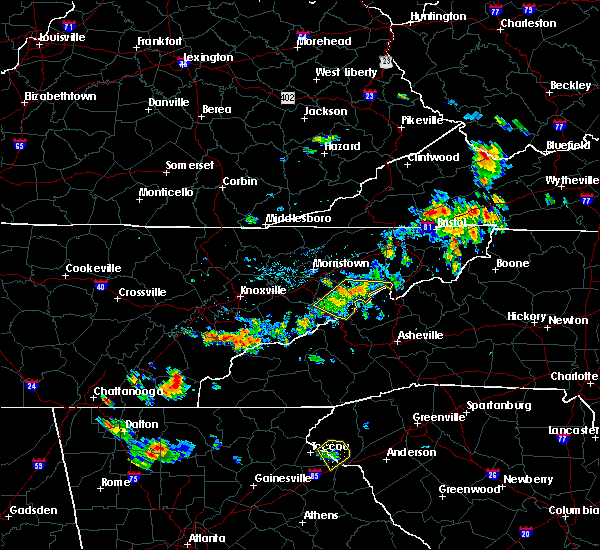 Radar Image for Severe Thunderstorms near Newport, TN at 6/3/2018 4:35 PM EDT
