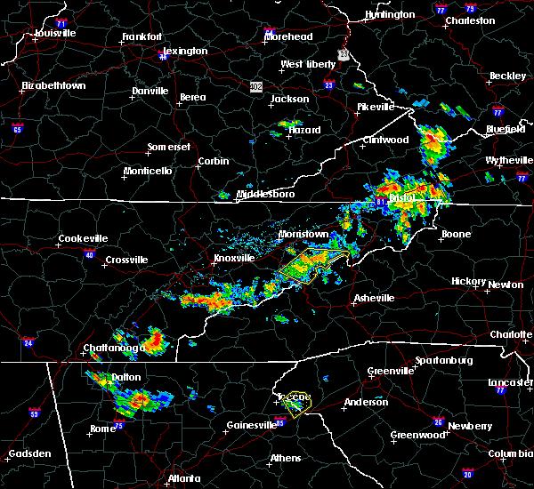 Radar Image for Severe Thunderstorms near Parrottsville, TN at 6/3/2018 4:35 PM EDT