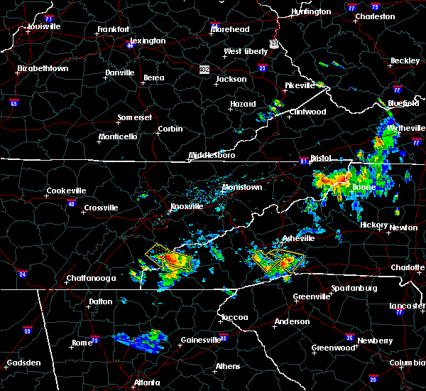 Radar Image for Severe Thunderstorms near Robbinsville, NC at 6/3/2018 5:42 PM EDT