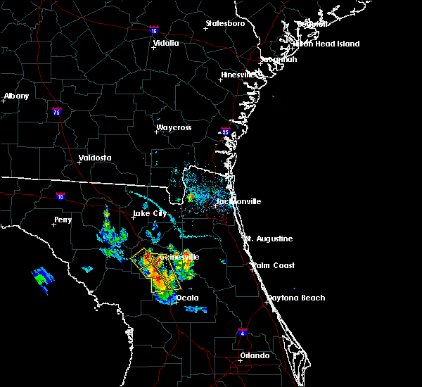 Radar Image for Severe Thunderstorms near Gainesville, FL at 6/3/2018 6:35 PM EDT