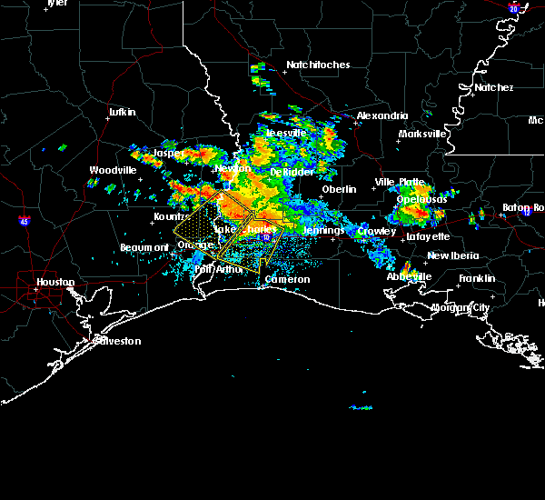 Radar Image for Severe Thunderstorms near Lake Charles, LA at 6/3/2018 5:54 PM CDT