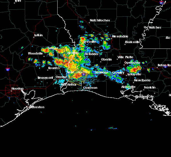 Radar Image for Severe Thunderstorms near Lake Charles, LA at 6/3/2018 6:19 PM CDT