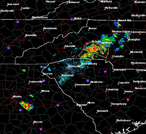 Radar Image for Severe Thunderstorms near Spencer Mountain, NC at 6/3/2018 7:19 PM EDT