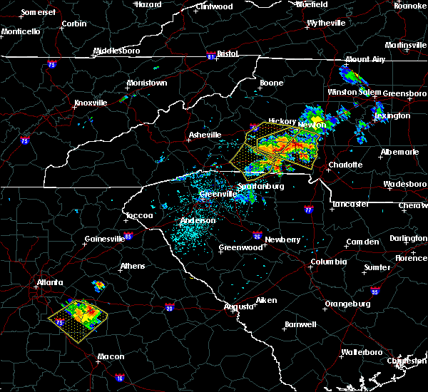 Radar Image for Severe Thunderstorms near Spencer Mountain, NC at 6/3/2018 7:28 PM EDT