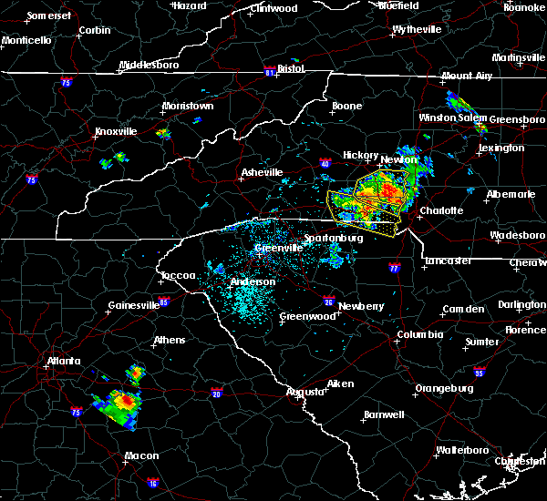 Radar Image for Severe Thunderstorms near Spencer Mountain, NC at 6/3/2018 7:46 PM EDT
