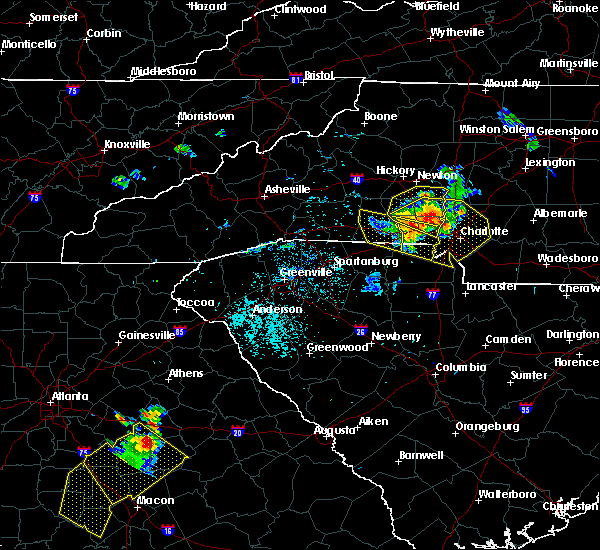 Radar Image for Severe Thunderstorms near Spencer Mountain, NC at 6/3/2018 7:54 PM EDT