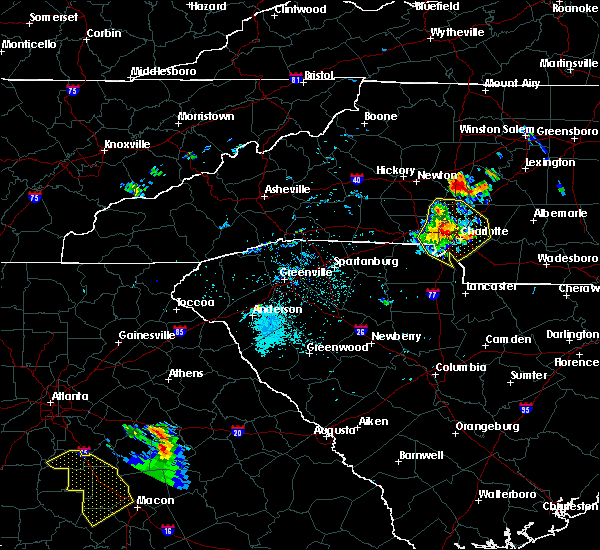 Radar Image for Severe Thunderstorms near Spencer Mountain, NC at 6/3/2018 8:21 PM EDT