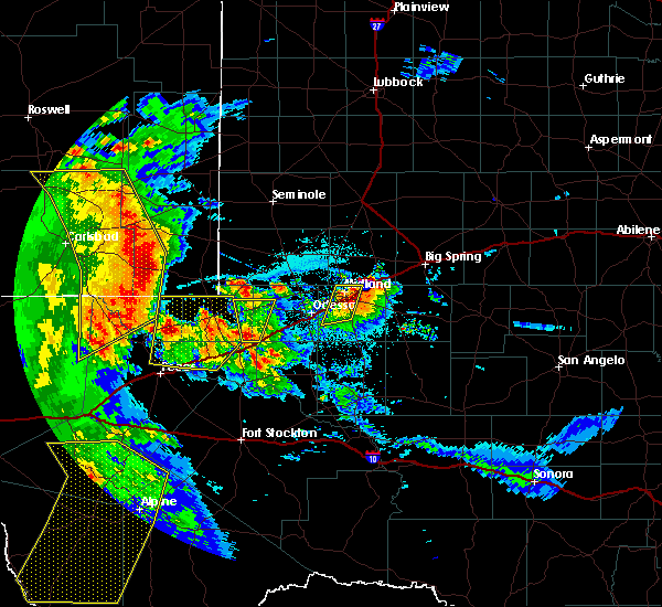 Radar Image for Severe Thunderstorms near Midland, TX at 6/3/2018 9:57 PM CDT
